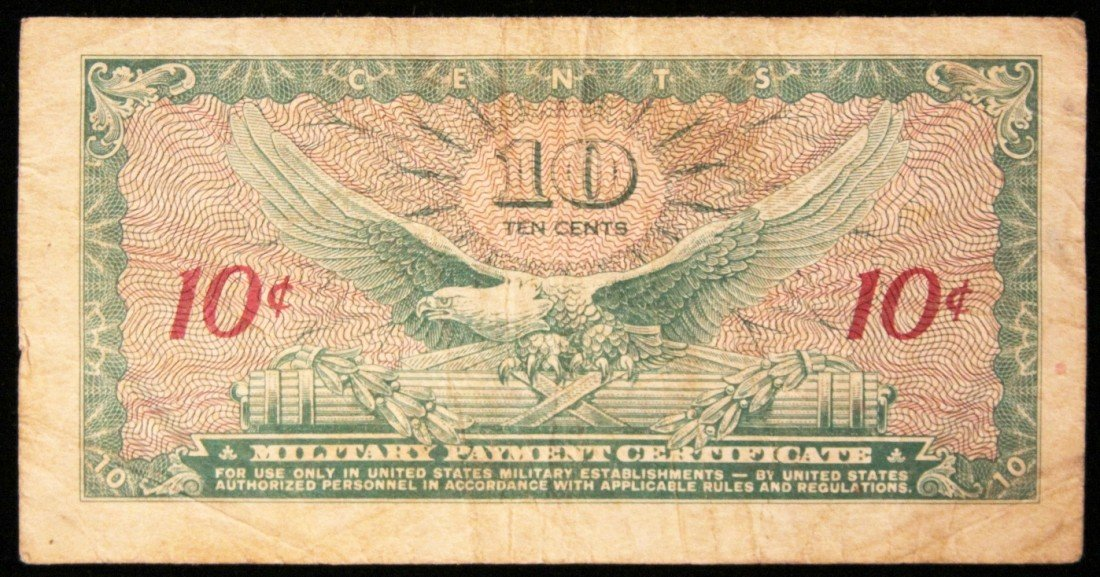 Series 641 10 Cent Military Payment Certificate PM2238 - 2