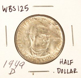 1949-D Booker T. Washington Commemorative Half Dollar C