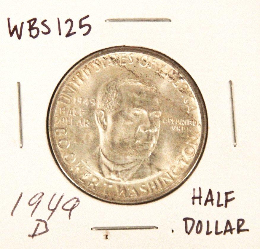 1949-D Booker T. Washington Commemorative Half Dollar C