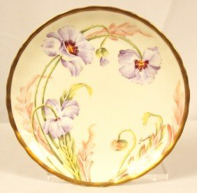 Antique Handpainted Limoges Plate ED1228