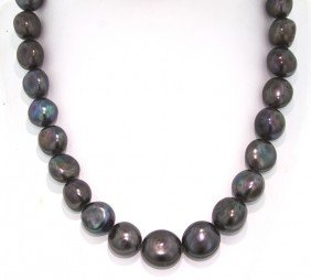 14KT White Gold Nugget Pearl Necklace FJM924
