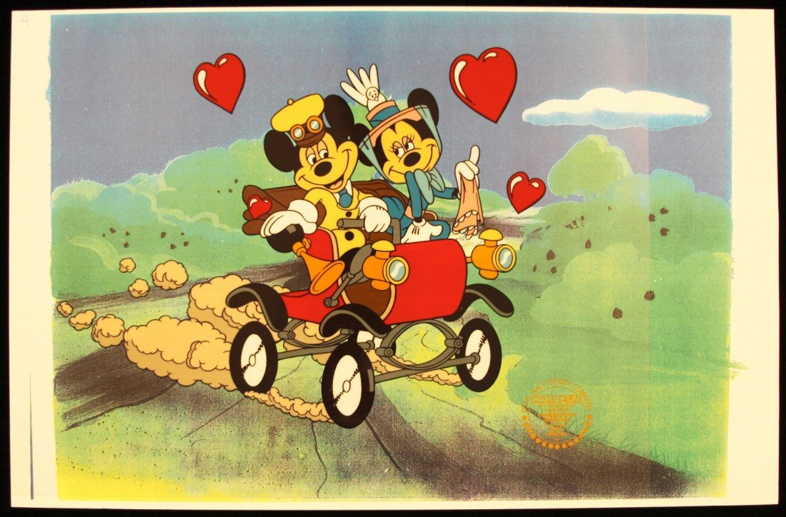 "Walt Disney ""Nifty Ninties"" Ltd Ed Serigraph Cel Disney"
