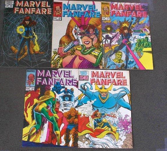 Marvel Fanfare - CB527 Lot of (5) Vintage Comic Books