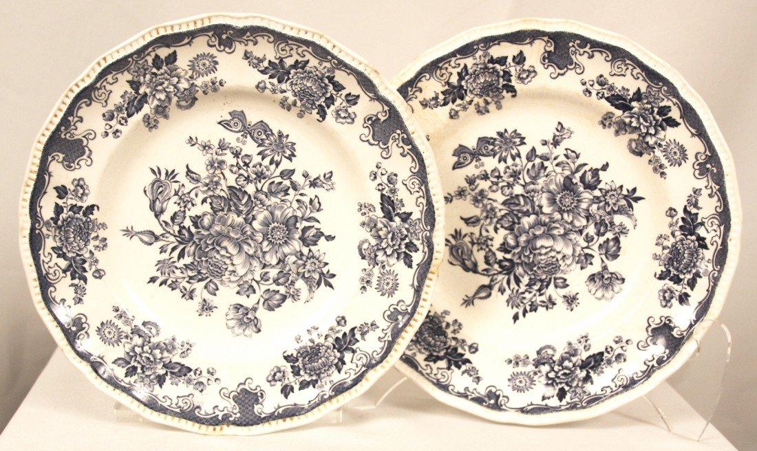 "Vintage Kensington Stafford Ironstone ""Balmoral"" 2 Dinn"