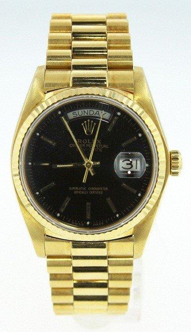 Gents Rolex 18KT Gold DayDate President Wristwatch WNK9