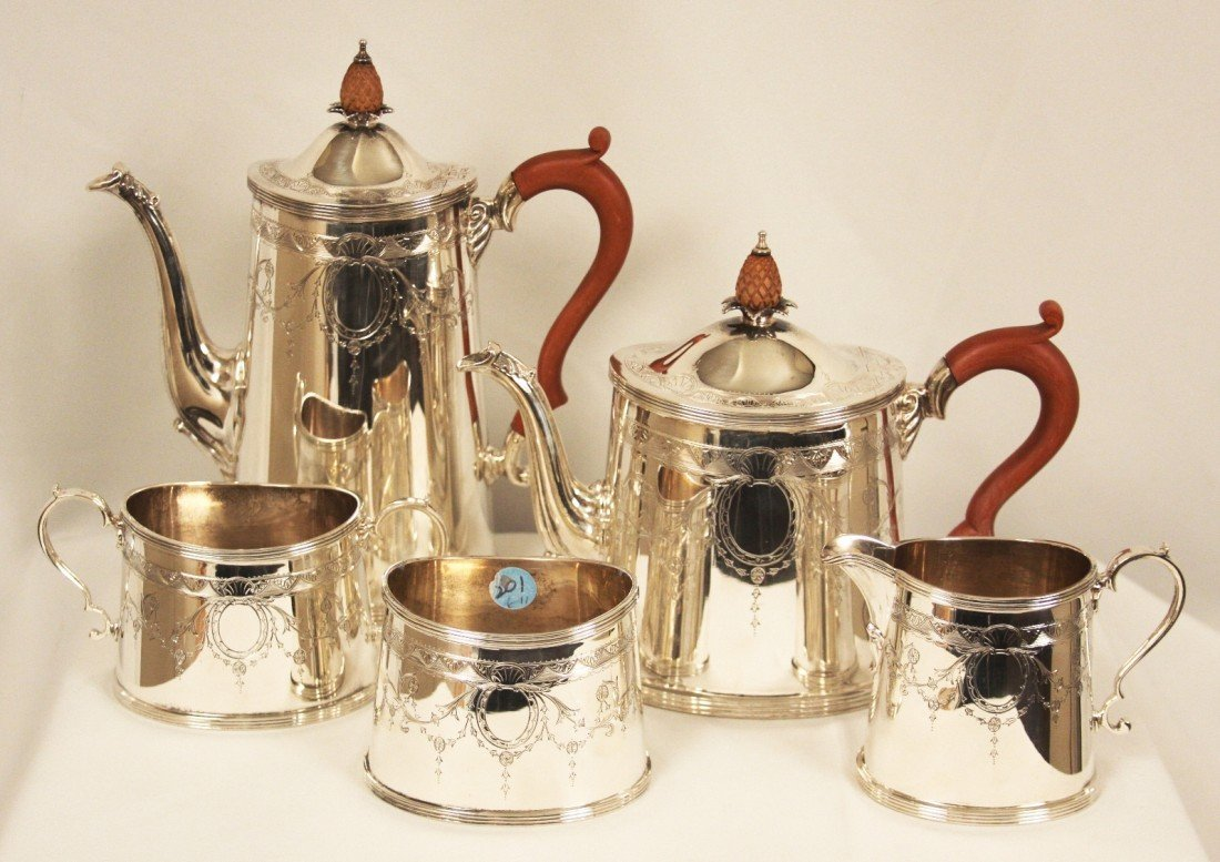 5-Pc Tiffany and Co Sterling Silver Tea and Coffee Serv