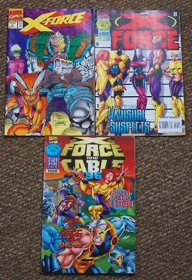 X-Force Vintage Comic Books Lot (3) CB472