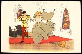 "Walt Disney ""Cinderella"" Ltd Ed Serigraph Cel DisneySer"