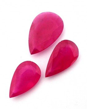Natural Ruby Parcel 3 Gemstones 50.65cts. A2848
