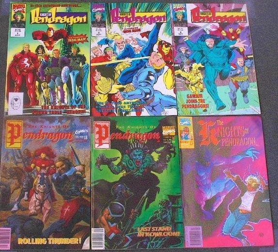 Knights of Pendragon - CB525 Lot of (6) Vintage Comic B