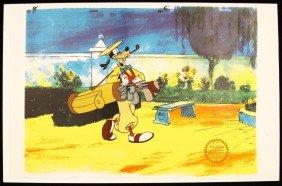 "Walt Disney ""How to Play Golf"" Serigraph Cel DisneySeri"