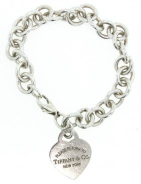 """""""Return to Tiffany and Co"""" Sterling Silver Bracelet WBS"""