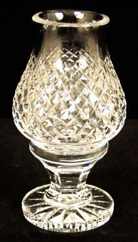 Hand Cut Waterford Crystal Hurricane Lamp WBL52