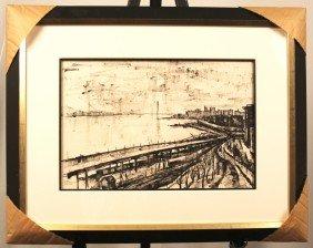 Original Ink On Paper By Francis De Erdley (1904-1959)