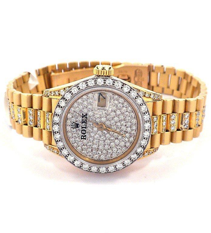 Ladies 18KT Gold Rolex Diamond DateJust Wristwatch A368