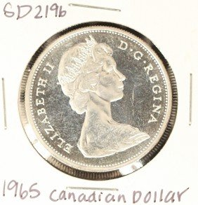 1965 Canadian Silver 'Loonie' Coin SD2196