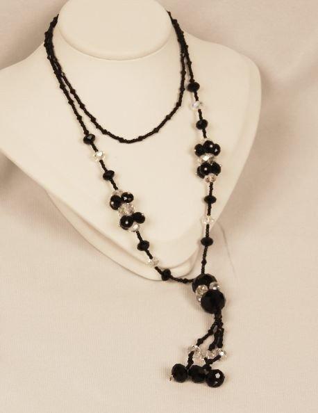 Beautiful Black & Crystal Necklace CN14