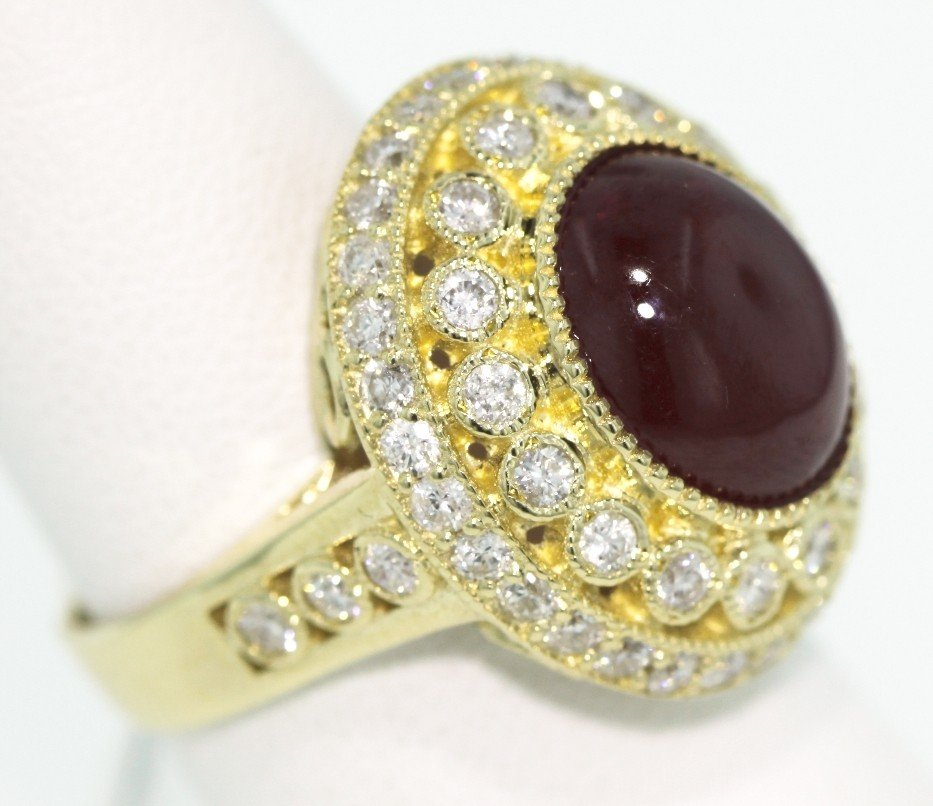 14KT Yellow Gold 7.37ct Ruby and Diamond Ring ATP20