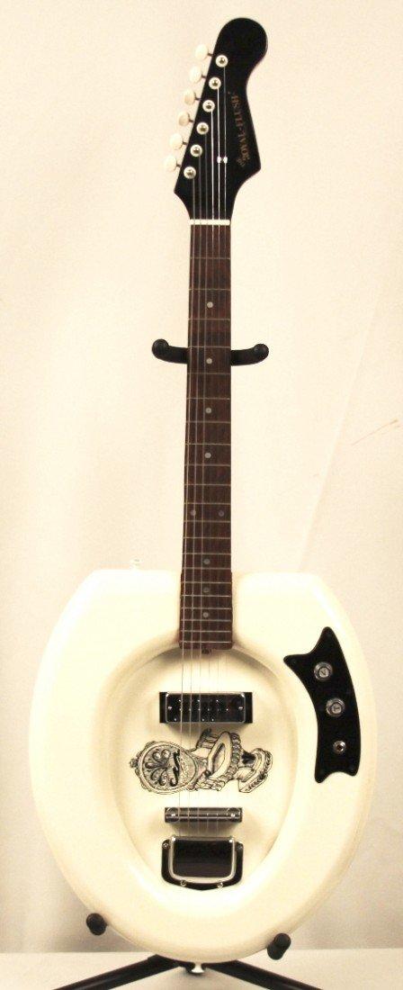 Royal Flush White Toilet Guitar DGUI22