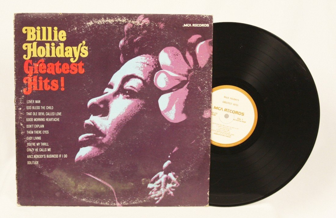 """""""Billie Holiday's Greatest Hits"""" Vinyl Record BD175"""