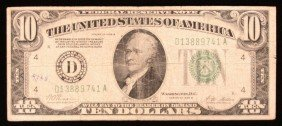 1928-B $10 Federal Reserve Note Cleveland PM2087