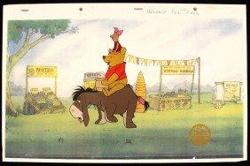 "Walt Disney ""Winnie The Pooh Blustery Day"" Serigraph Ce"