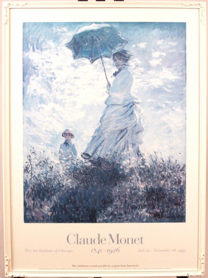 """Vintage Art Institute of Chicago """"Claude Monet"""" 1995 Po"""
