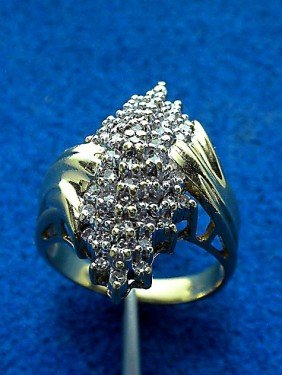 14KT Yellow Gold Diamond Bouquet Ring 0.41ct. A1537
