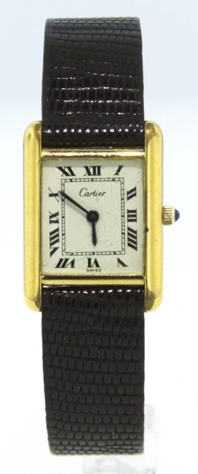 Ladies Cartier Tank Wristwatch WBS102