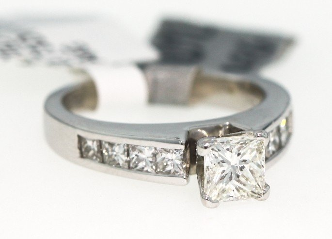 14KT White Gold 1.43ct Diamond Unity Ring RM356