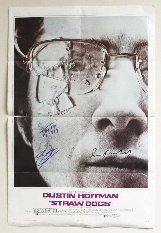 """Straw Dogs"" Autographed Movie Poster SM49"