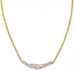 14KT Yellow Gold .75ct Diamond Necklace FJM1082