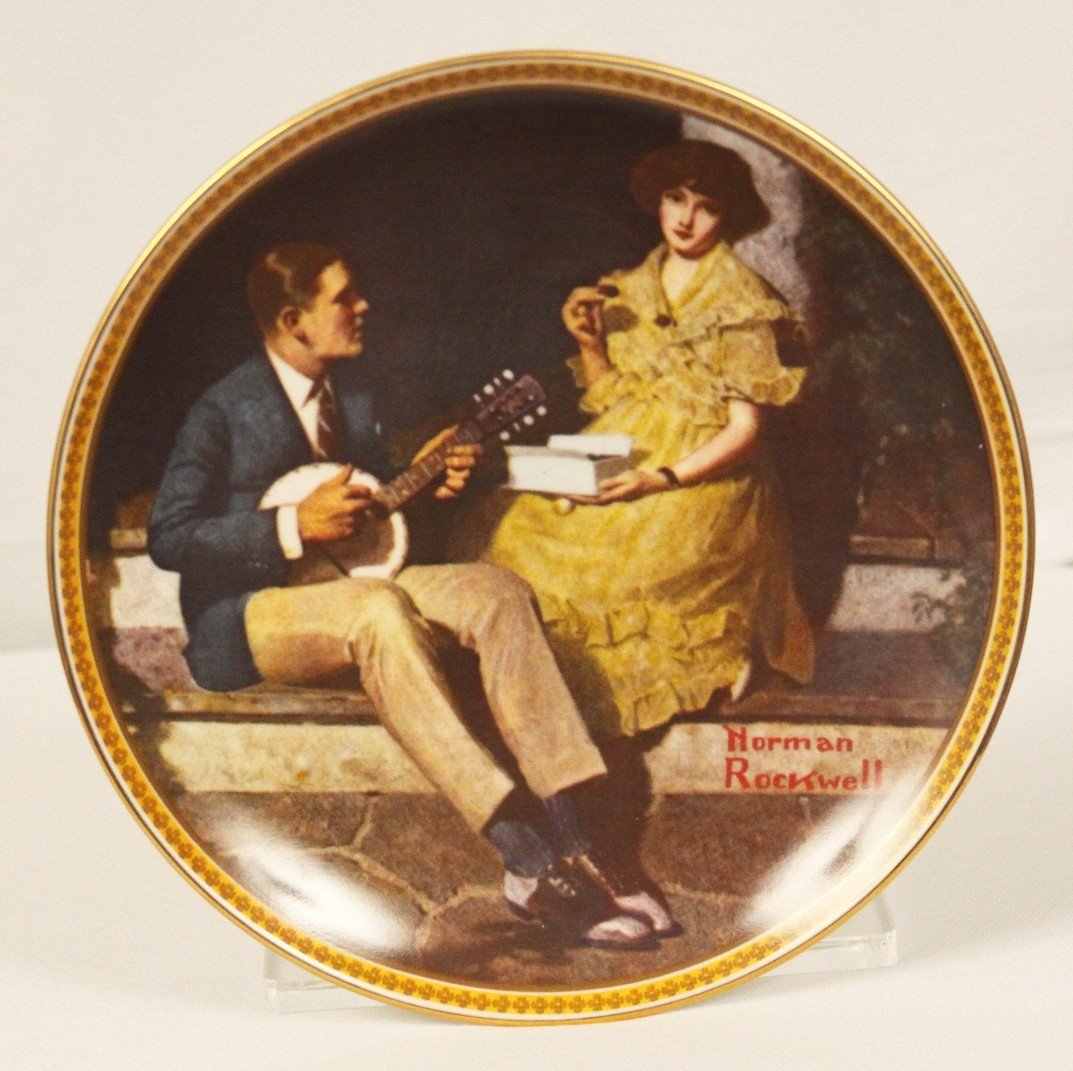 "Knowles Collector Plate ""Pondering on the Porch"" ED1116"