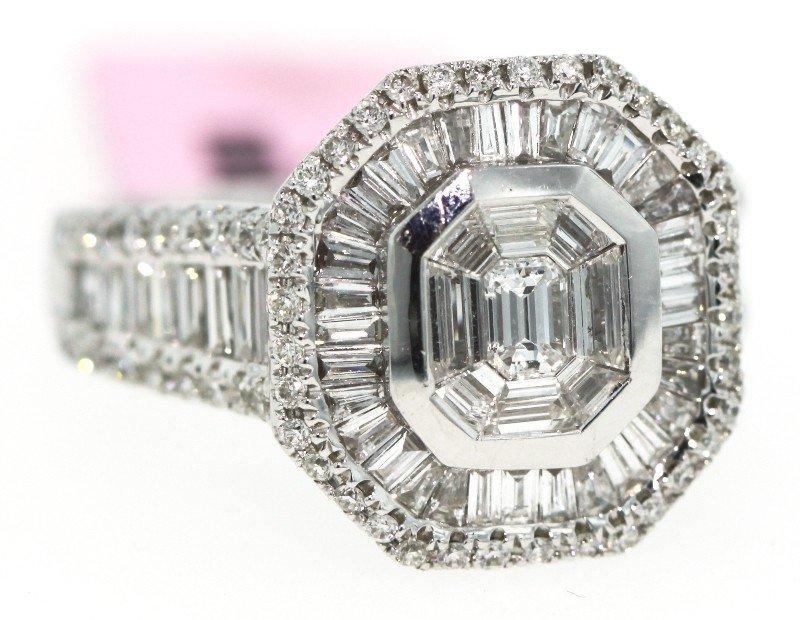 18KT White Gold 1.9ct Diamond Ring FJM488