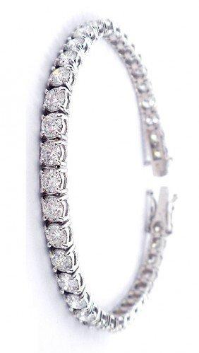 18KT White Gold 14.3ct Diamond Tennis Bracelet A3284