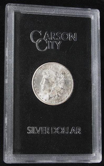 1884 Carson City Morgan Silver Dollar Encased SCE543.