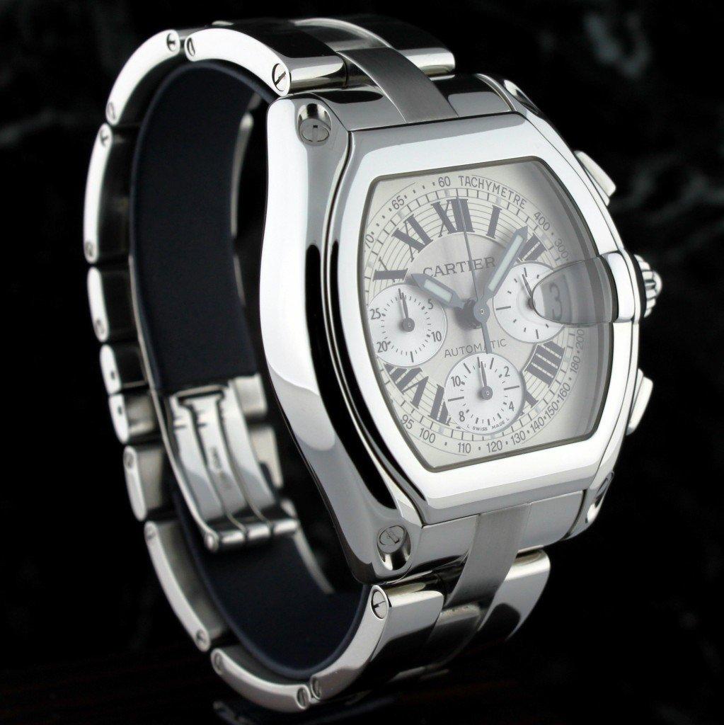 Cartier Roadster Chronograph XL Mens Wristwatch F7