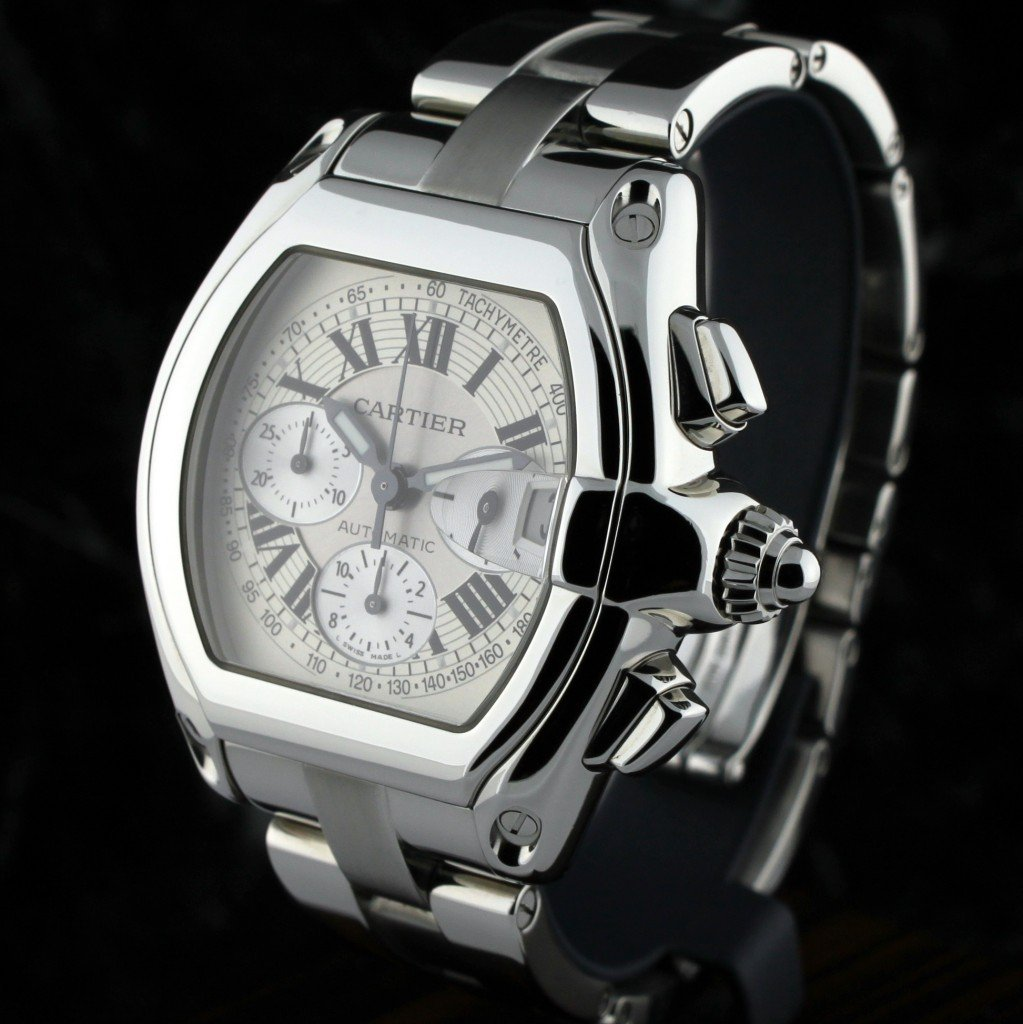 Cartier Roadster Chronograph XL Mens Wristwatch F7 - 2