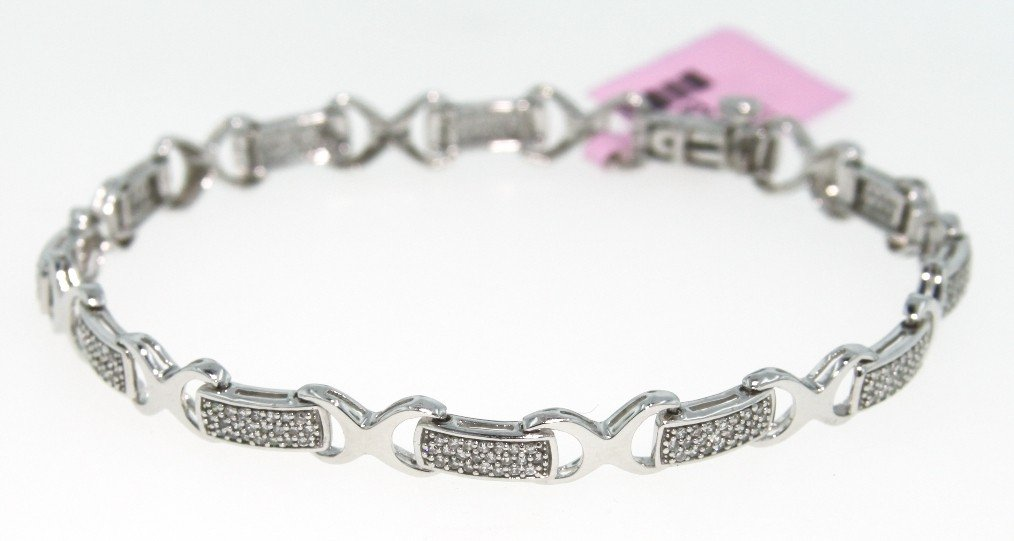 14KT White Gold .9ct Diamond Bracelet FJM497