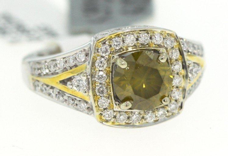14KT White Gold 2.07ct Diamond Unity Ring RM347