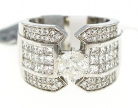 14KT White Gold 3.06ct Diamond Unity Ring RM225
