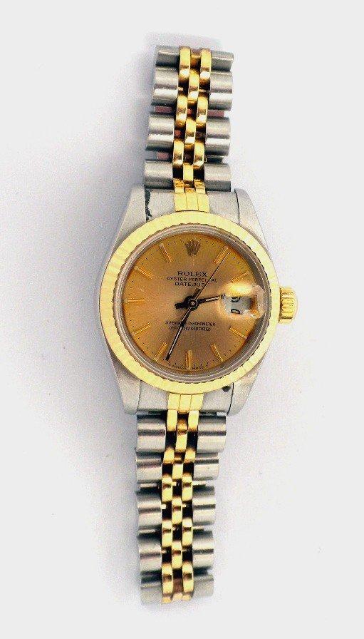 Lady Rolex Two-Tone DateJust Wristwatch A3483