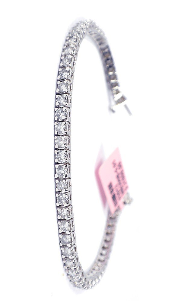 14KT White Gold 4.42ct Diamond Tennis Bracelet FJM702