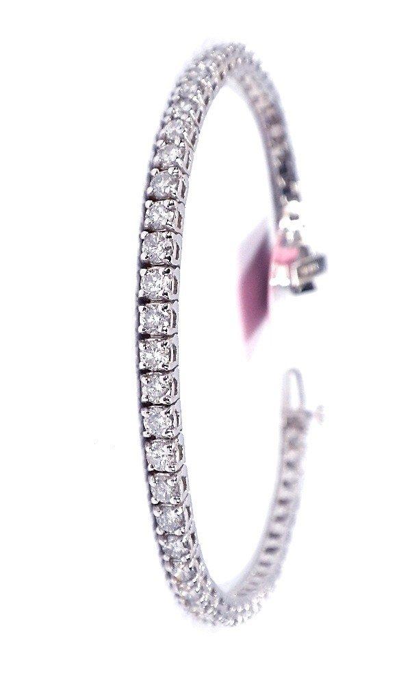 14KT White Gold 5.5ct Diamond Tennis Bracelet FJM1233