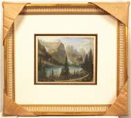 Listed Artist M Wride Original Pastel Rockie Mountains