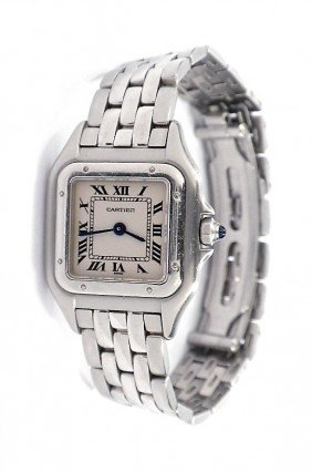 Stainless Steel Cartier Panthere Wristwatch A3314