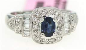 14KT White Gold 74ct Sapphire and Diamond Ring FJM913