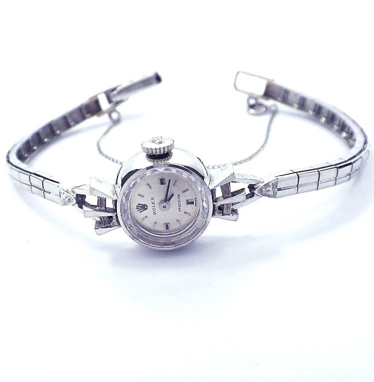 Ladies White Gold Vintage Rolex Wristwatch ML25
