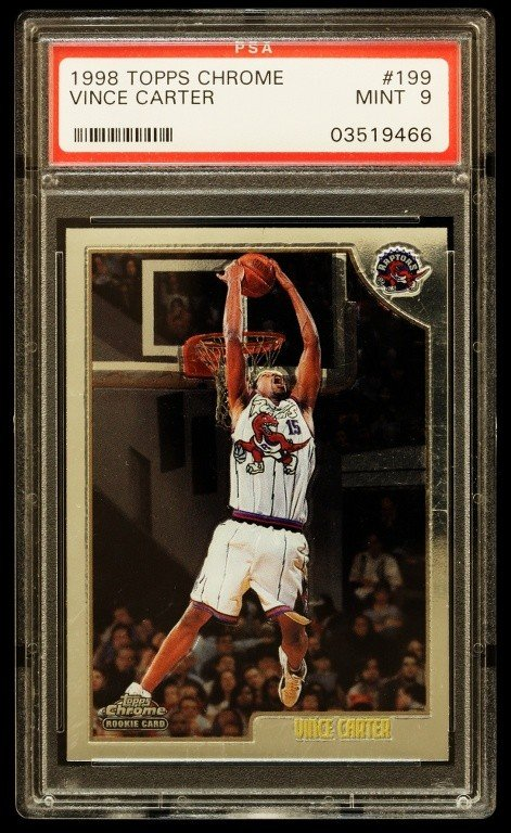 1998 Topps Chrome Vince Carter Rookie Card C224