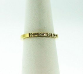 14T Yellow Gold Diamond Ring .4ct GD85
